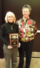 Missy Cross OE Meyer receives the Outstanding Advocate Award